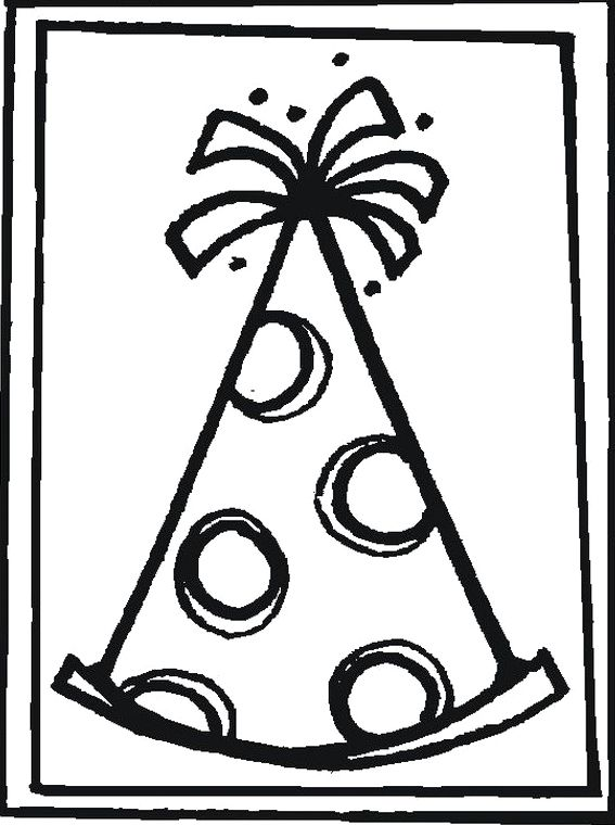 Birthday Hat Coloring Page