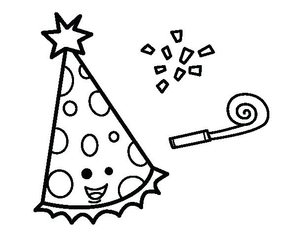 600x470 Party Hat Coloring Page Free Coloring Happy Birthday Hat Coloring