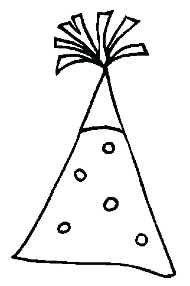 640x962 Coloring Pages Of Birthday Hats