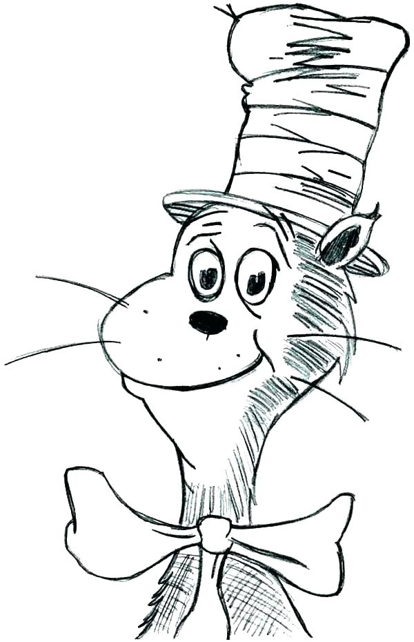 600x930 Birthday Hat Coloring Page Cat In Hat Coloring Pages Cat