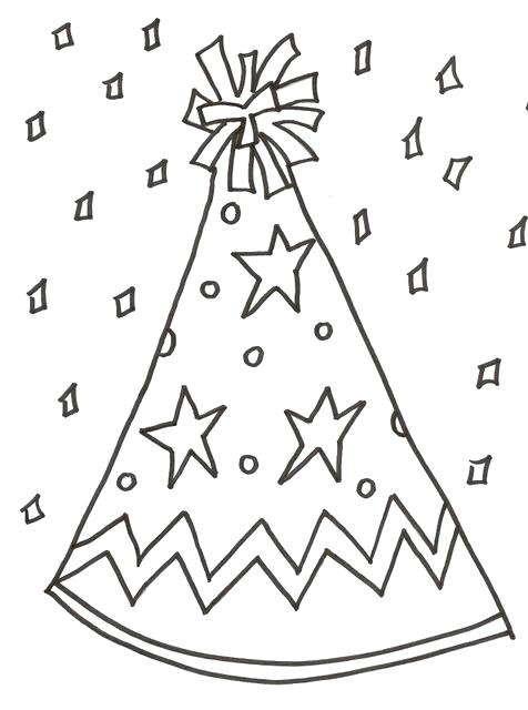 476x640 Birthday Hat Coloring Page Best Happy Birthday Wishes