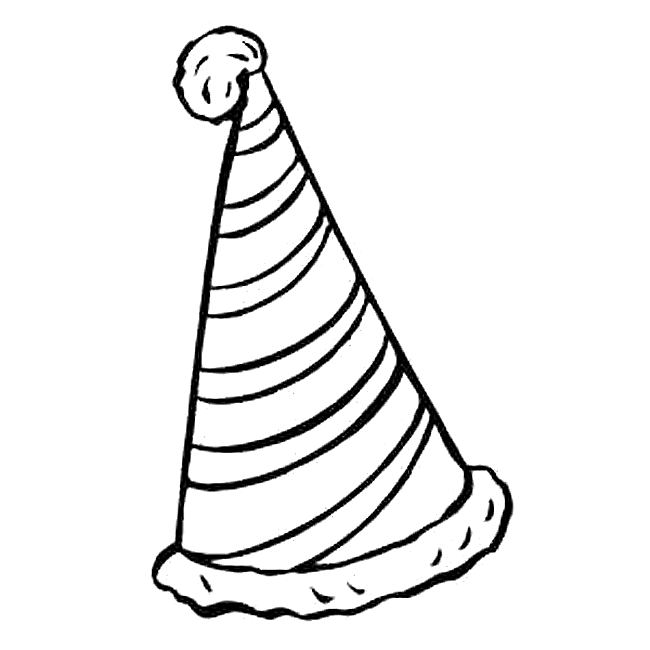 650x650 Birthday Hat Coloring Page Farsangcarnaval