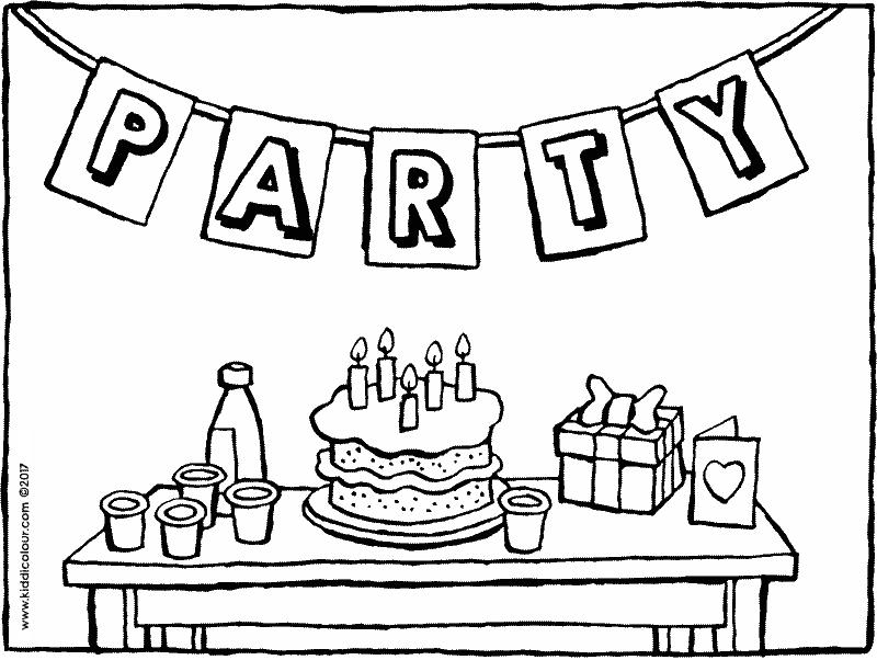 800x602 Birthday Party Coloring Pages Best Happy Birthday Wishes