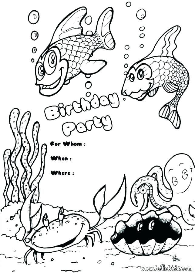 643x900 Coloring Pages For Birthdays Party Coloring Pages Birthday Party