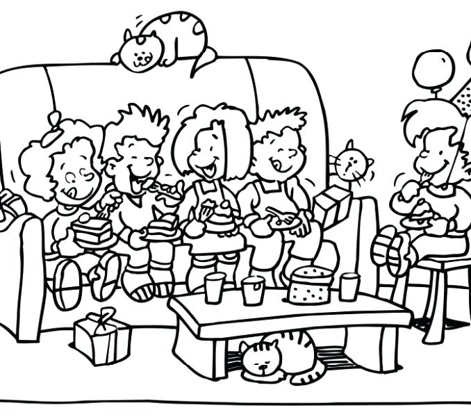 678x600 Party Coloring Pages Birthday Party Colouring Pages Coloring Pages