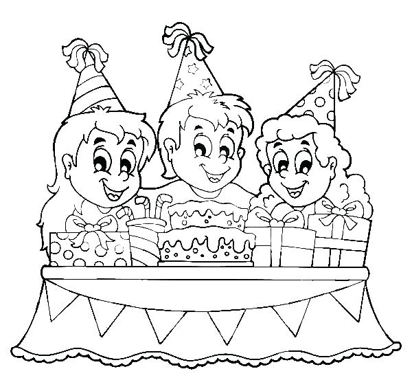 600x569 Party Coloring Pages Tea Party Coloring Pages Construction