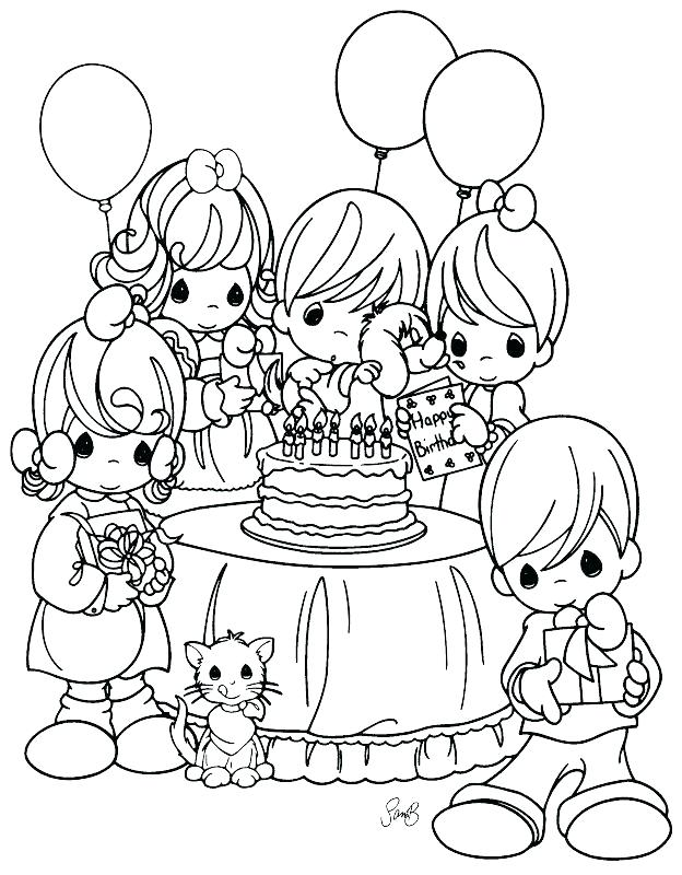 624x800 Birthday Party Coloring Pages Birthday Party Coloring Pages