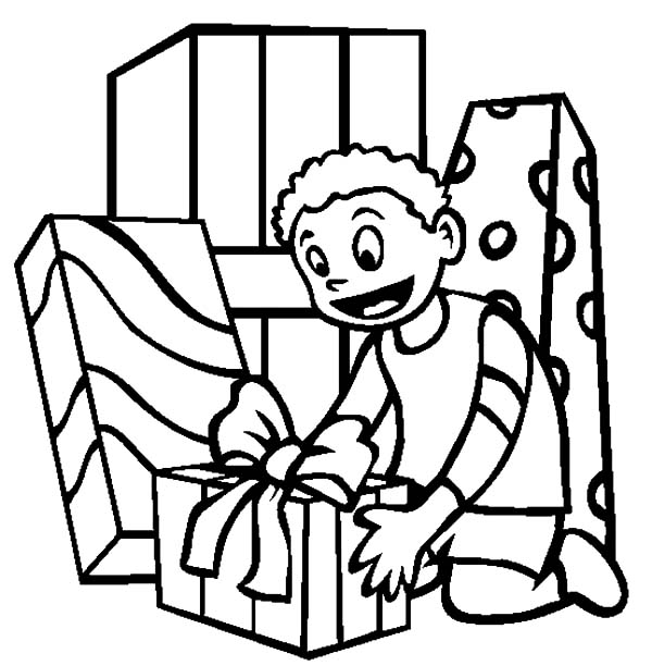 Birthday Present Coloring Page