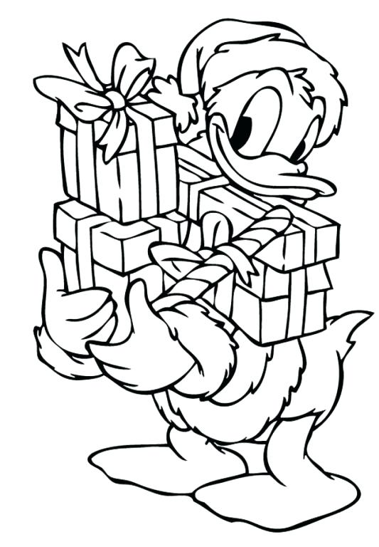 533x768 Christmas Present Coloring Pages With Presents Coloring Page Free
