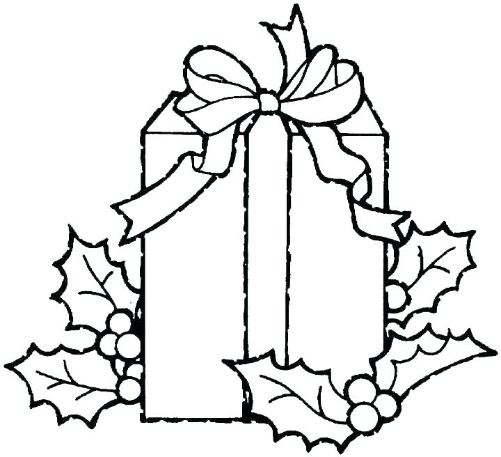720x656 Present Coloring Page Gift Coloring Page Present Coloring Page
