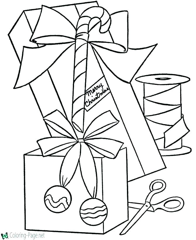 670x820 Present Coloring Page Happy Birthday Cake And A Present Coloring