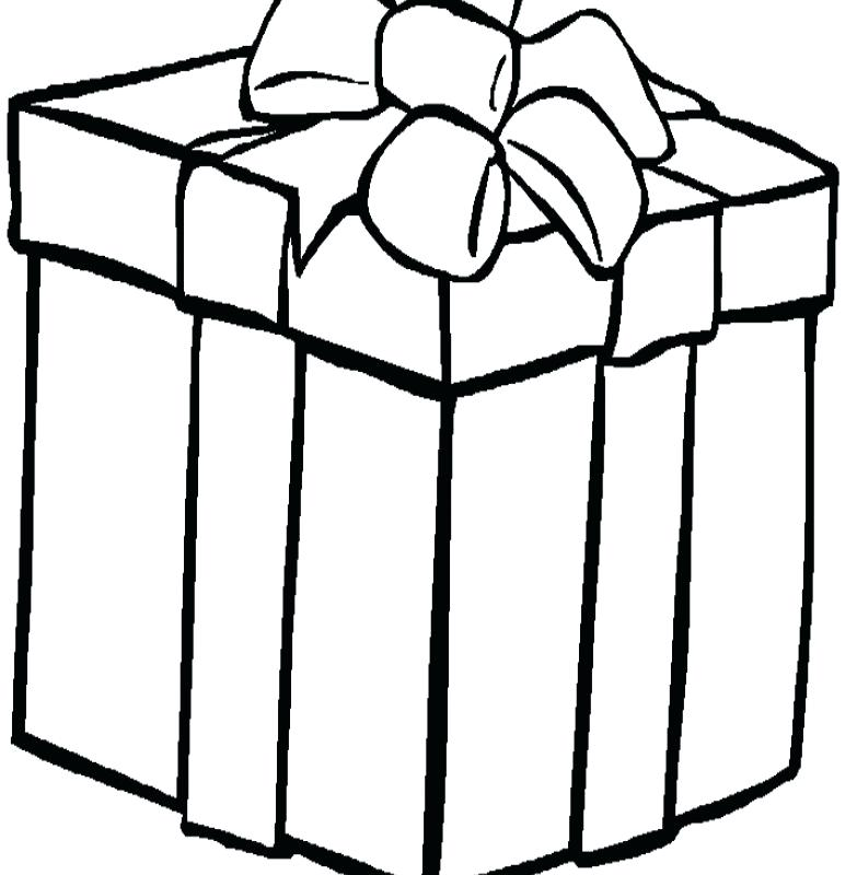783x800 Present Coloring Pages S Birthday Present Colouring Pages