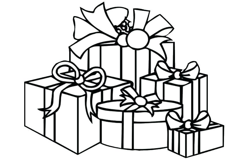 850x567 Presents Coloring Page Coloring Pages Of Presents Present Coloring