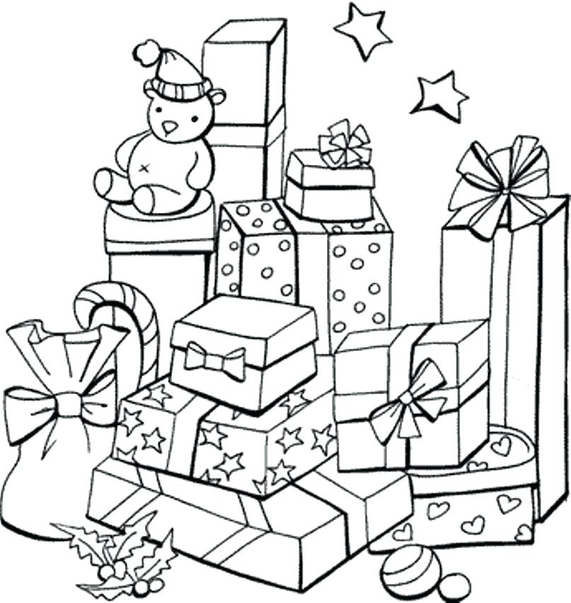 807x852 Presents Coloring Page Gifts Coloring Pages Printable Gifts