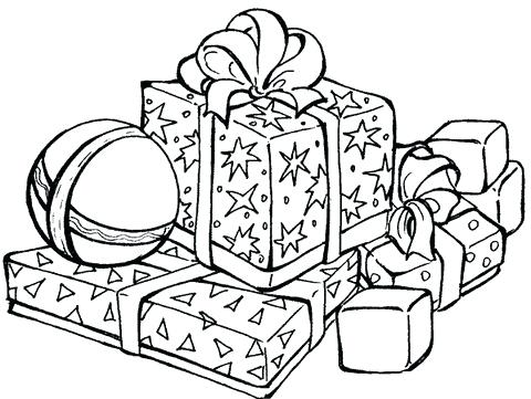 480x361 Presents Coloring Page How Many Presents Coloring Page Birthday