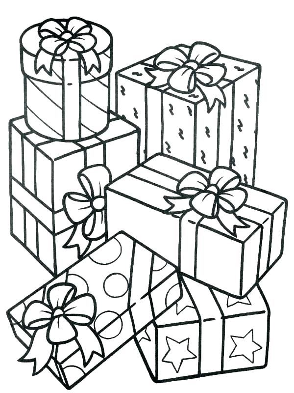 600x800 Presents Coloring Pages Gifts Coloring Pages Birthday Present