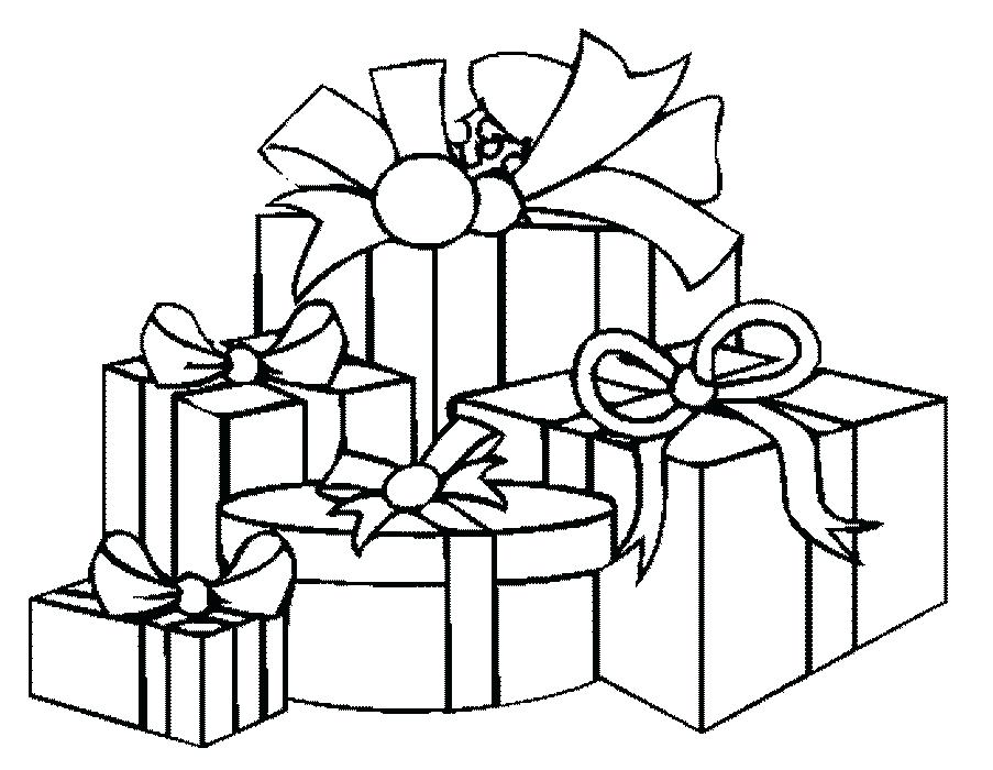 903x700 Printable Birthday Present Coloring Pages Of Presents