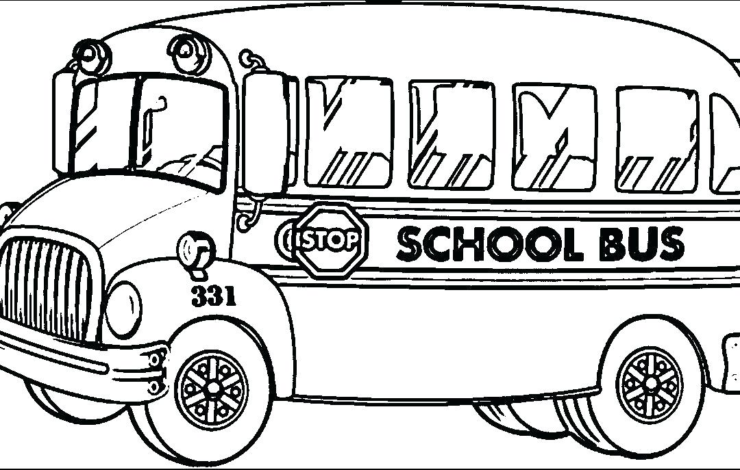 1080x687 Surprising Present Coloring Page Surprising Yellow School Bus