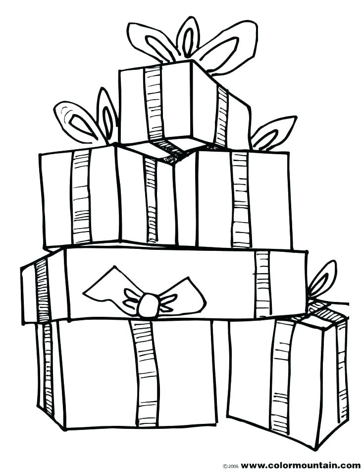 735x952 Christmas Gift Coloring Page