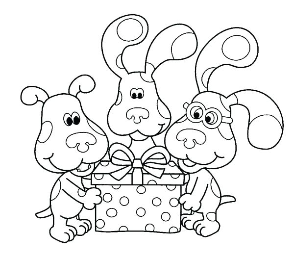 600x526 Present Coloring Page
