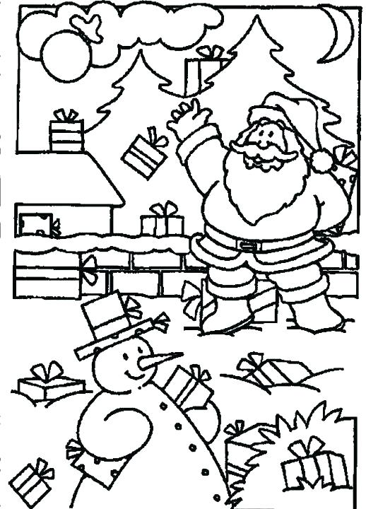 518x720 Presents Coloring Page