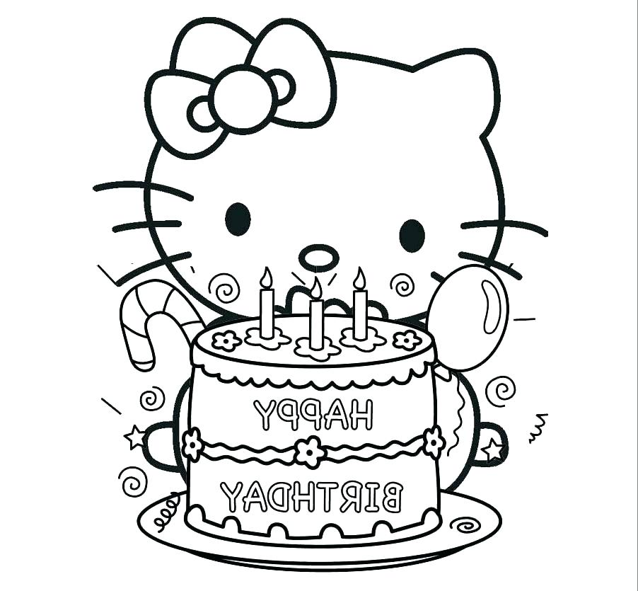 902x835 Printable Birthday Coloring Pages Icontent