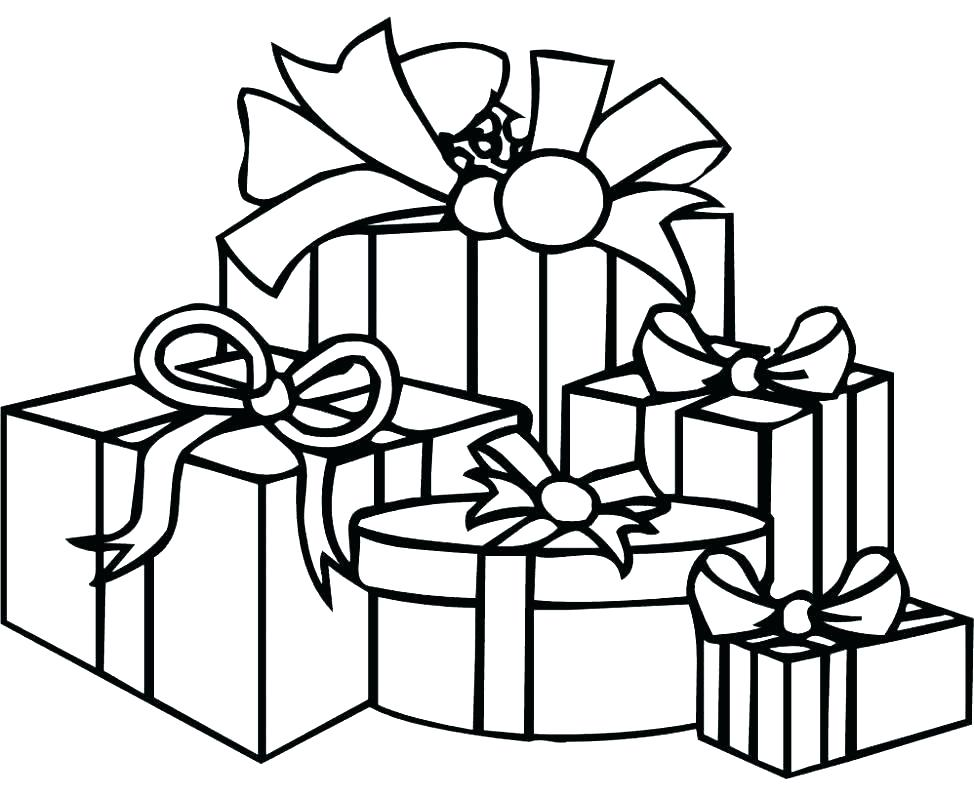 974x796 Birthday Present Colouring Page Present Coloring Pages Present
