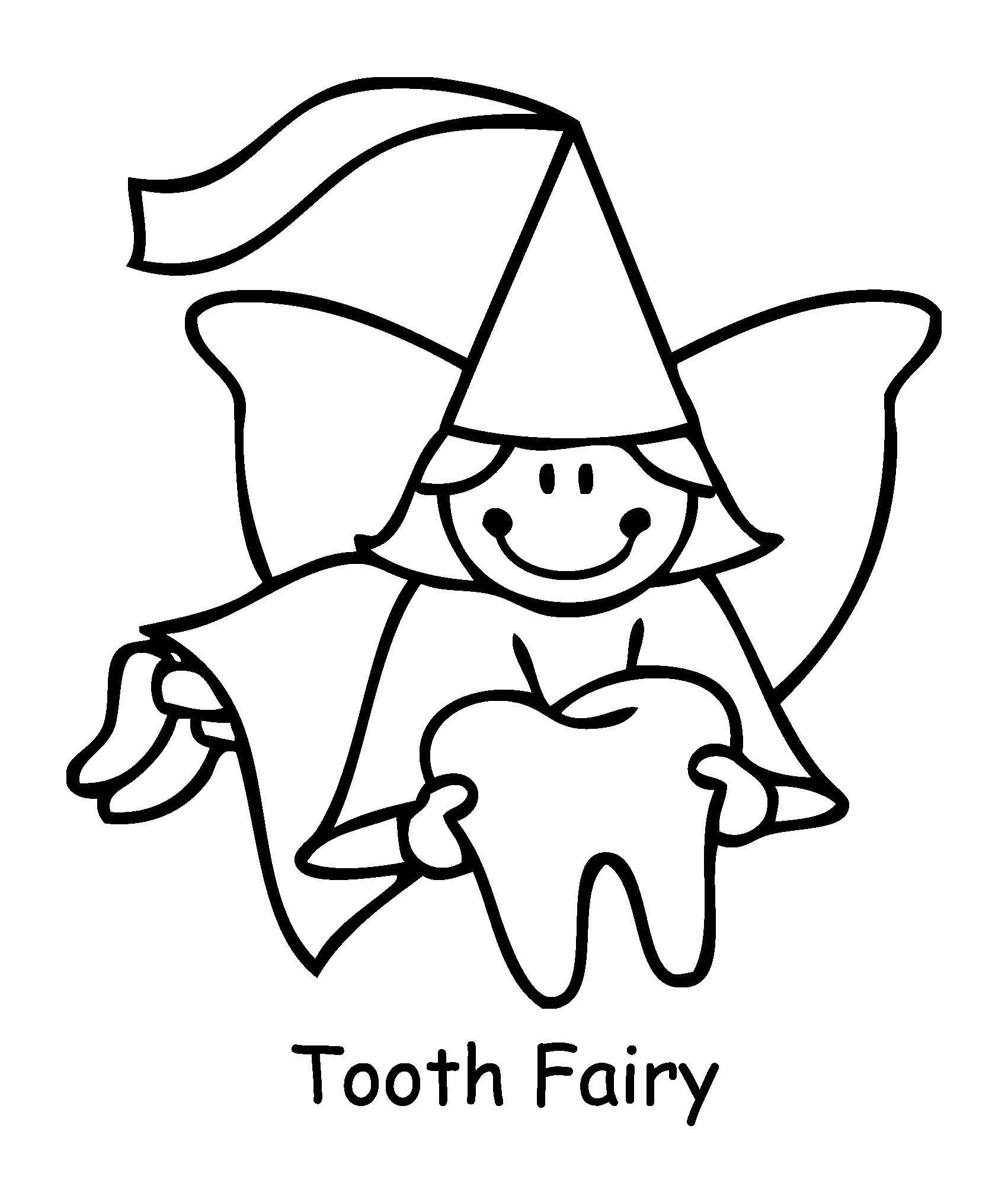 1701x2005 Tooth Fairy Coloring Pages