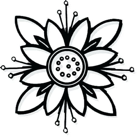 450x449 Easy Flower Coloring Pages Cute Flower Coloring Pages Sheets