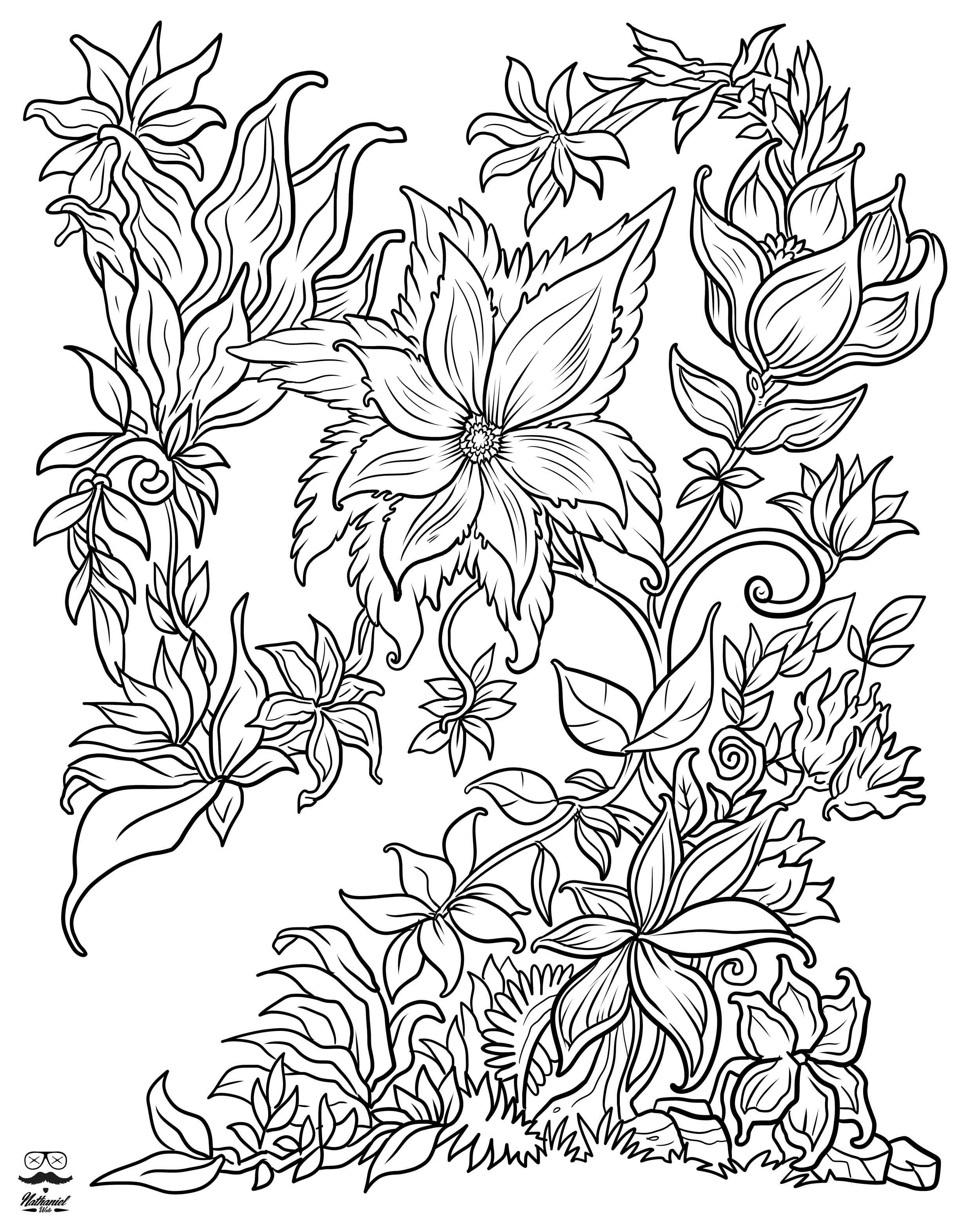 2500x3125 Floral Fantasy Digital Version Adult Coloring Book Adult