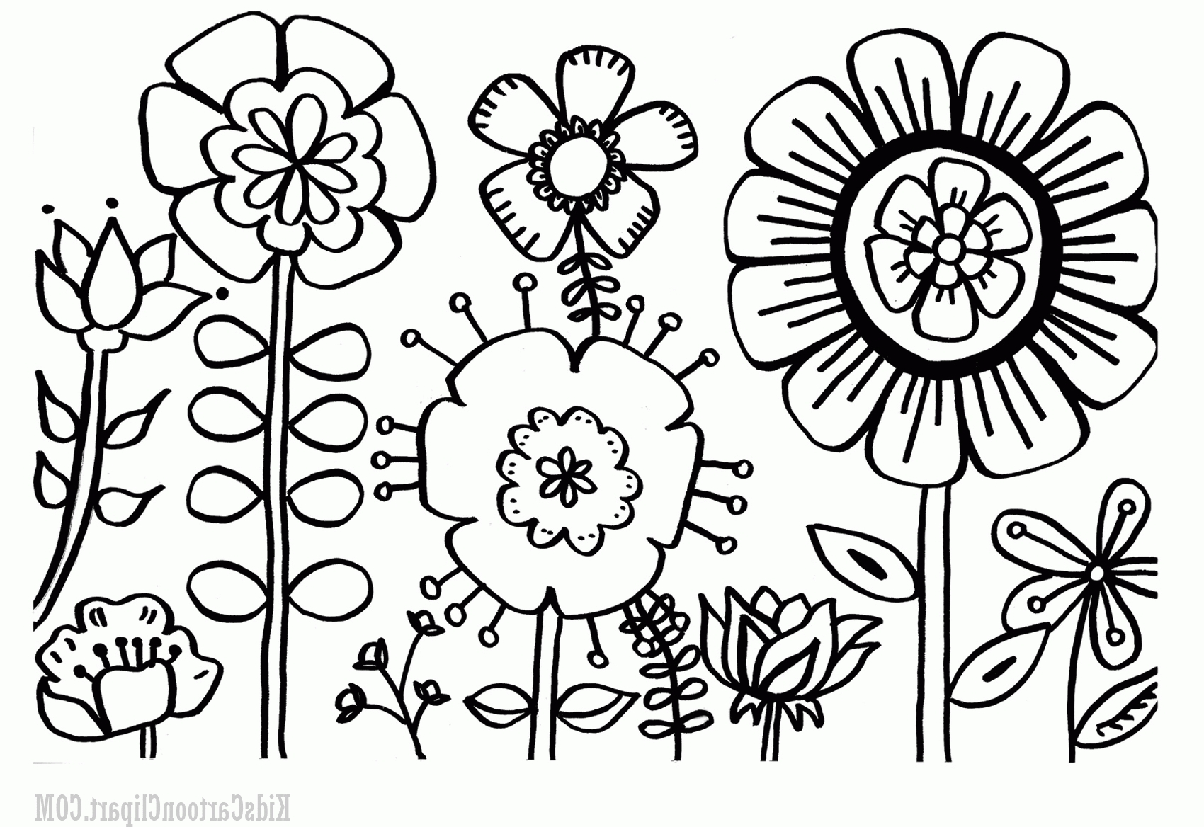 1700x1168 New Flower Garden Coloring Pages Gallery Free Coloring Pages