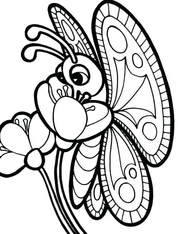 600x787 Coloring Page Of Butterfly Simple Butterfly Coloring Pages