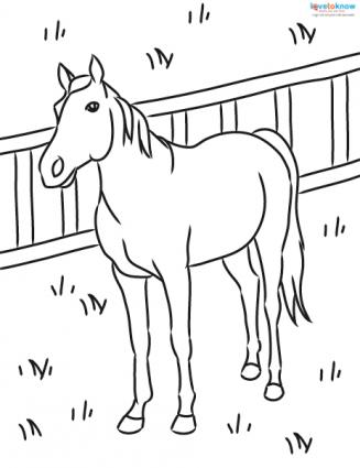327x425 Horse Coloring Pages To Print