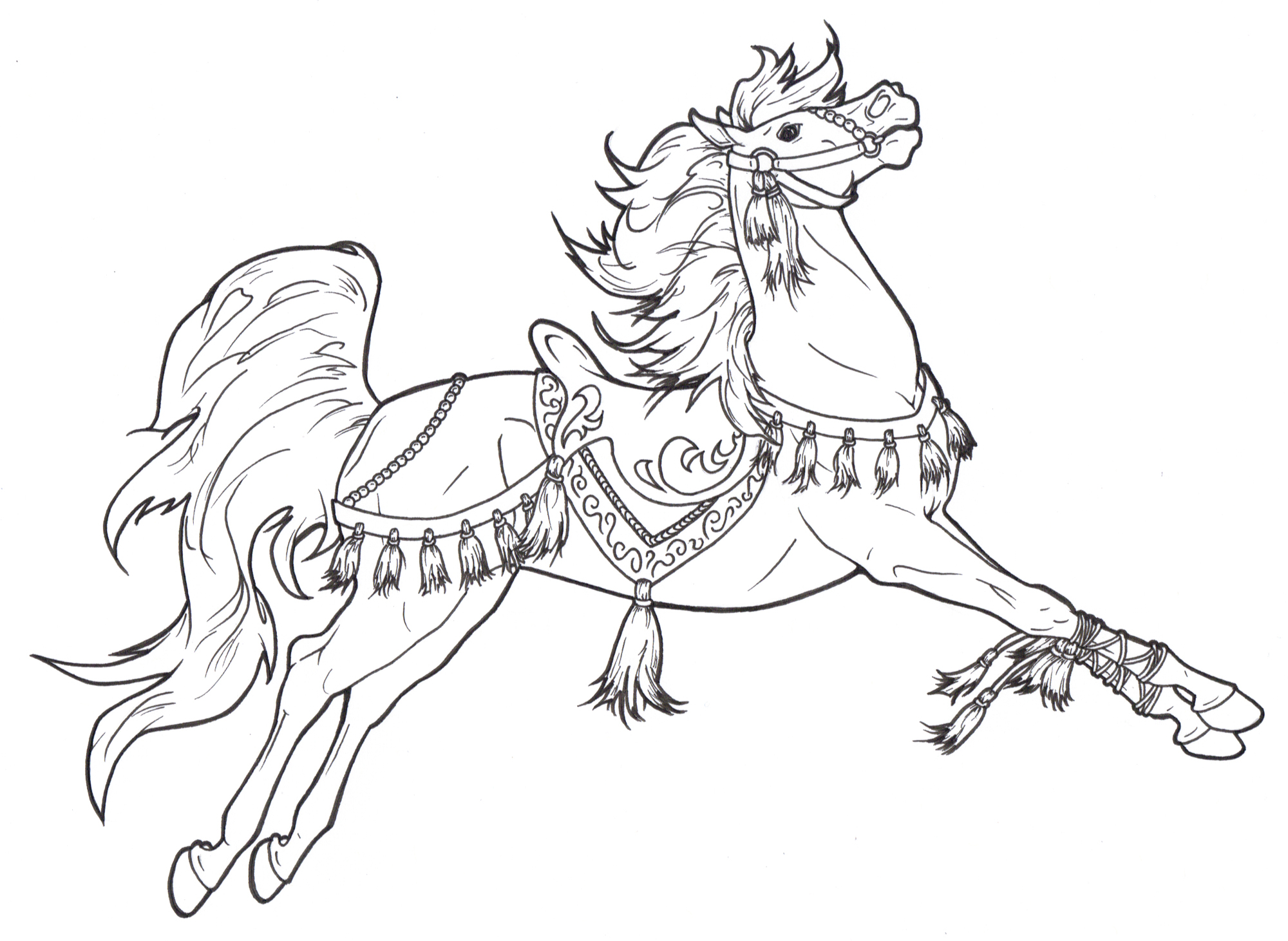 2000x1461 Imagination One Horse Open Sleigh Coloring Pag