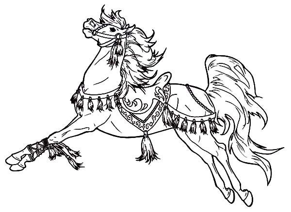 600x438 Charming Carousel Horse Coloring Pages Best Place To Color