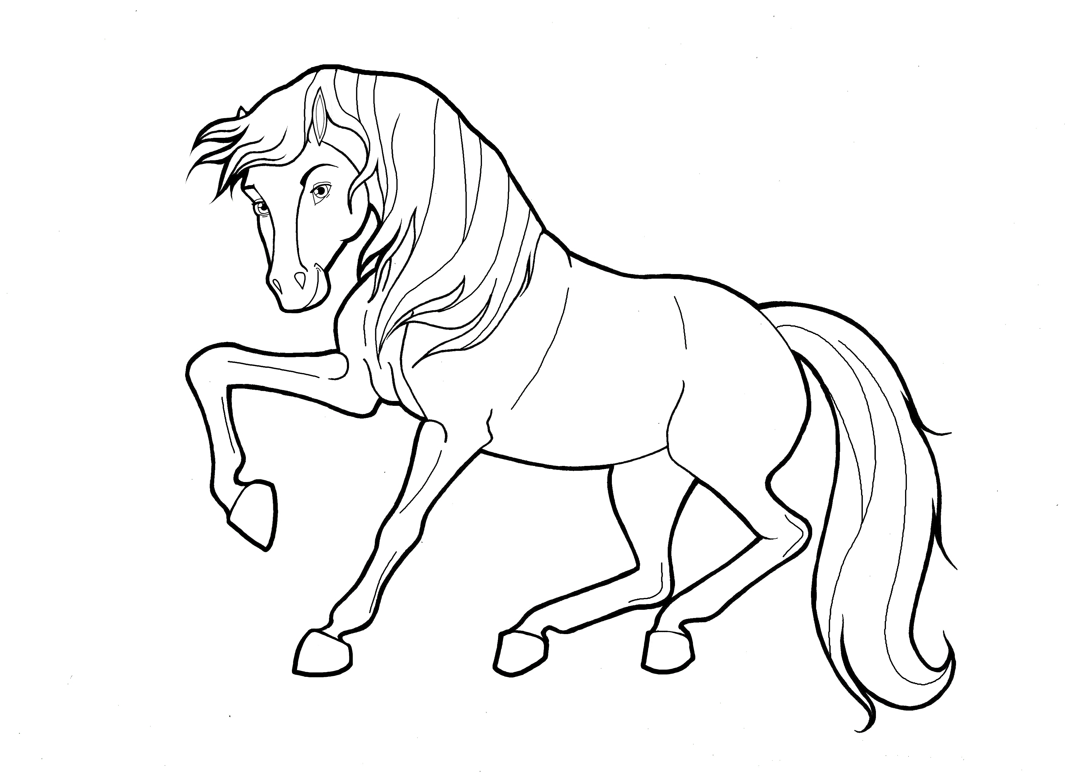3509x2550 Coloring Pages Farm Animals Mother Horse Stock Vector Collection