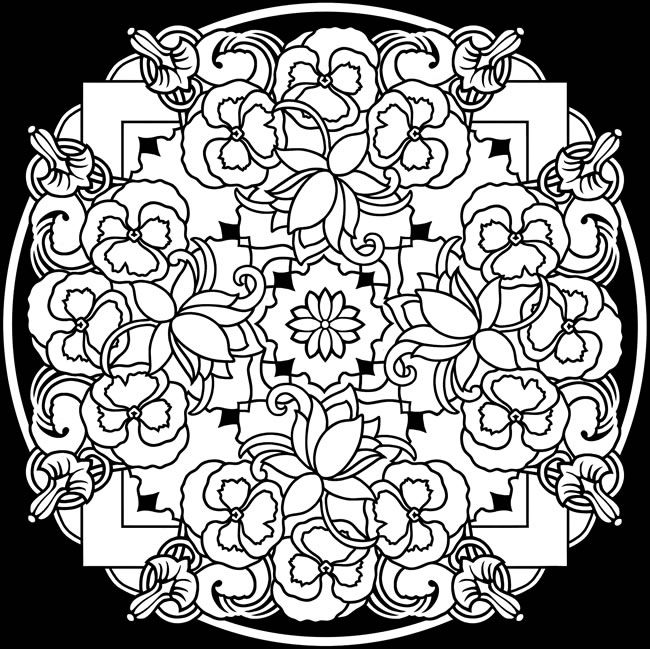 Black Background Coloring Pages