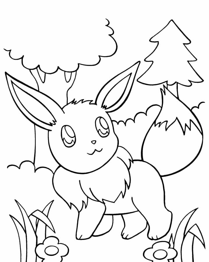 718x902 Pokemon Coloring Pages Of Eevee Evolutions Wallpaper Background