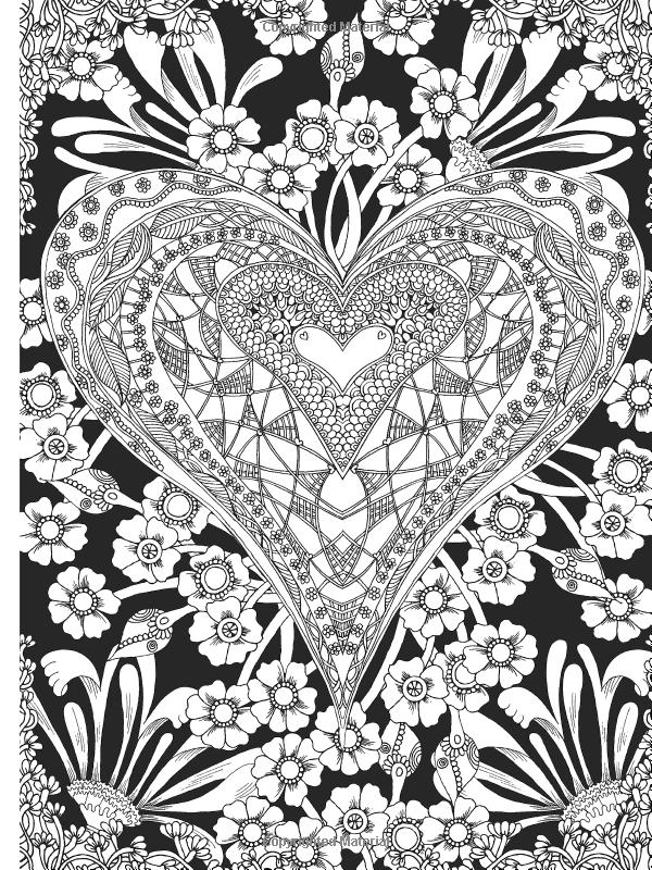 600x800 Creative Haven Midnight Garden Coloring Book Heart