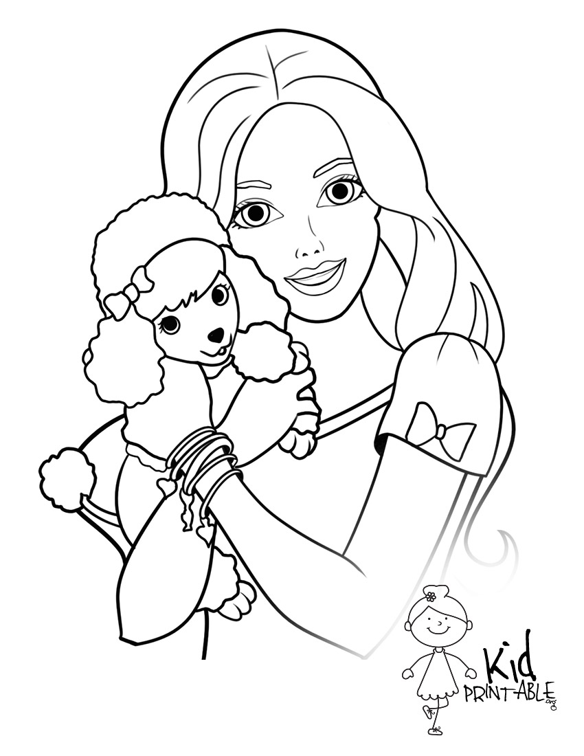 850x1100 Barbie Coloring Pages To Print Out
