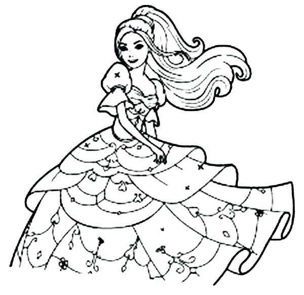 600x582 Barbie Horse Coloring Pages Barbie Coloring Pages Free Barbie