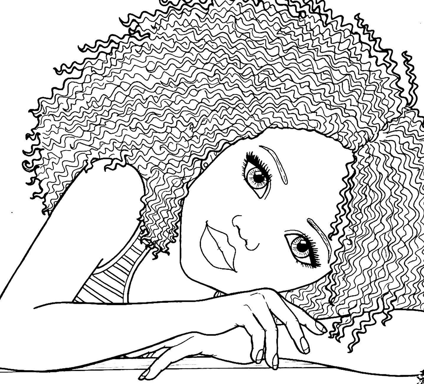 1436x1302 African American Coloring Pages