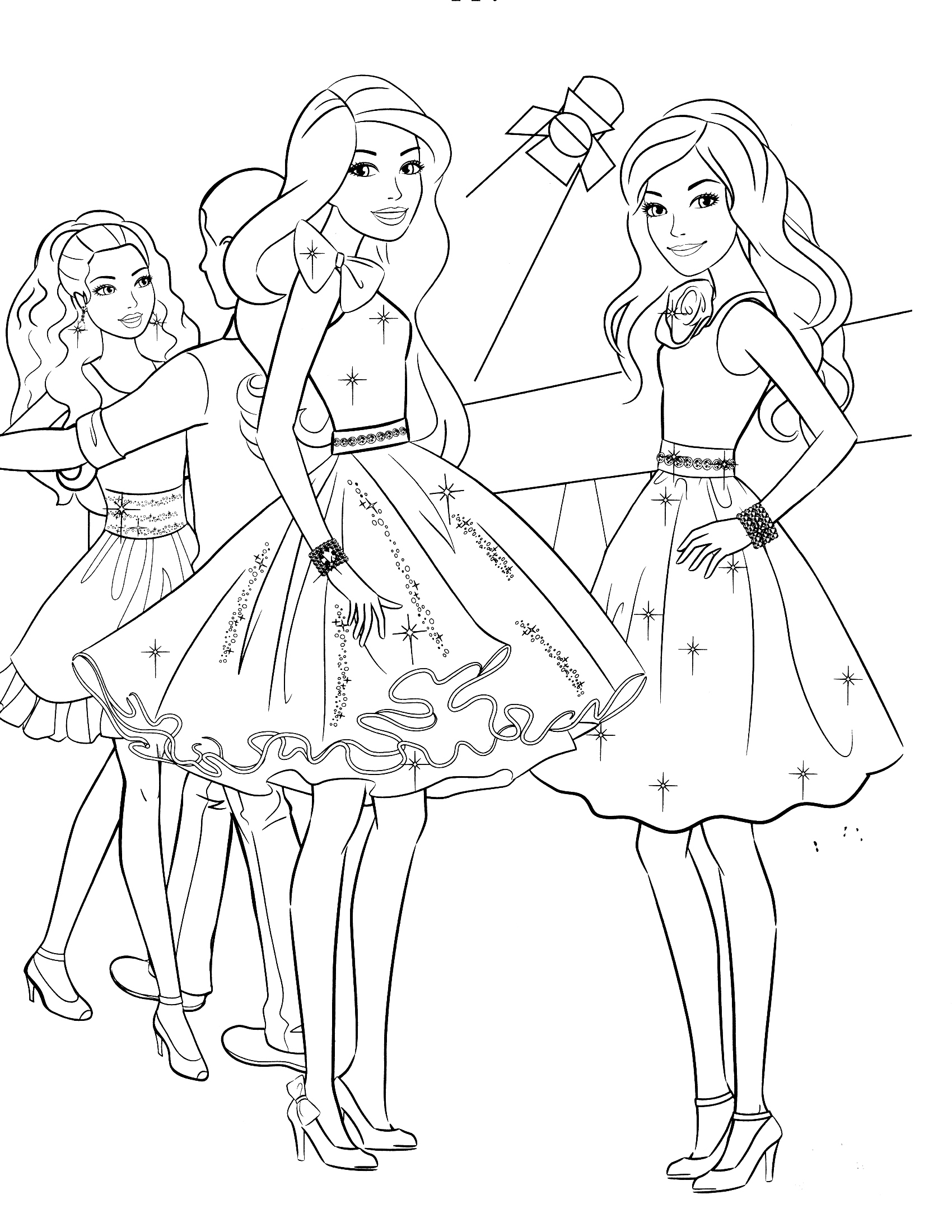 1700x2200 Good Coloring Pages Barbie Christmas From Barbie Coloring Pages