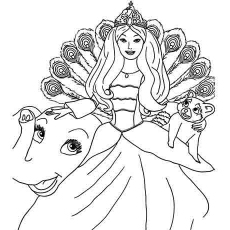 230x230 Top Free Printable Barbie Coloring Pages Online