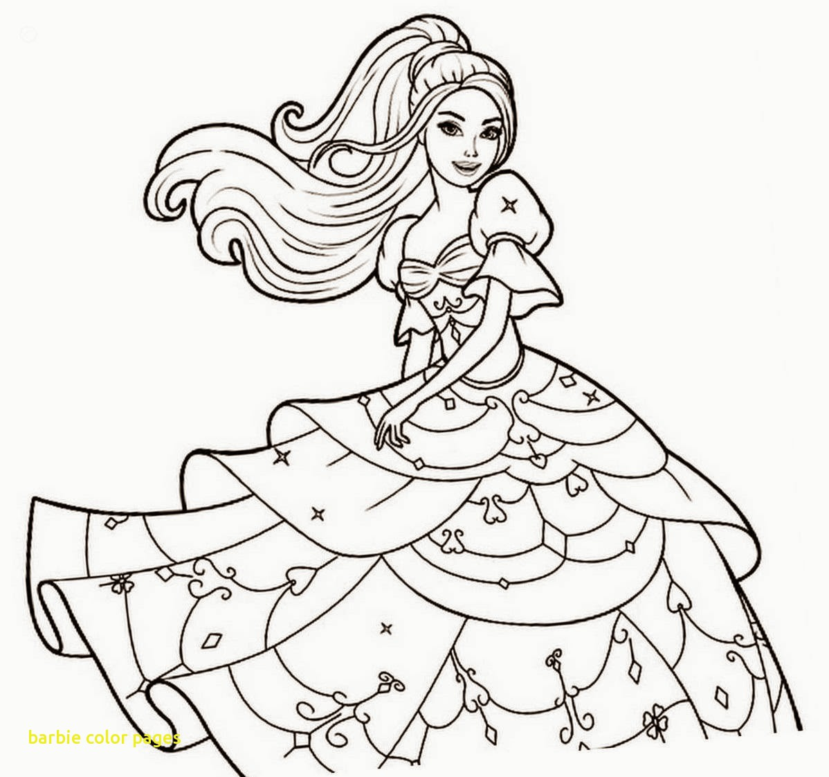 1198x1122 Barbie Color Pages With Drawn Coloring Page Pencil And In New