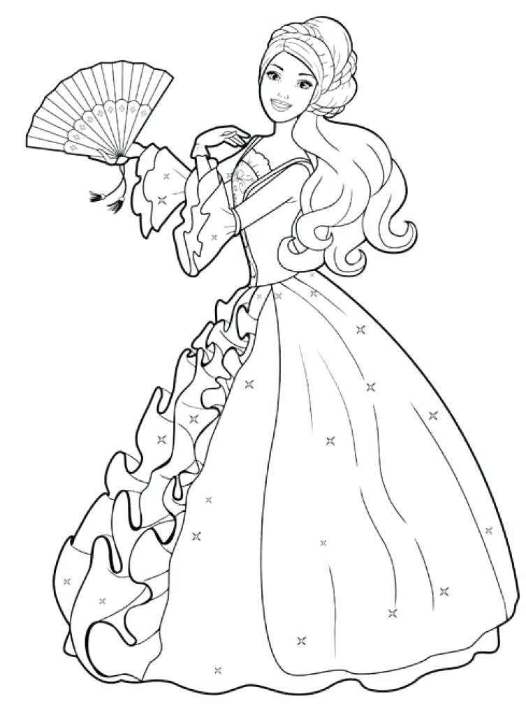 753x1024 Barbie Coloring Books Also Elegant Barbie Coloring Pages Game