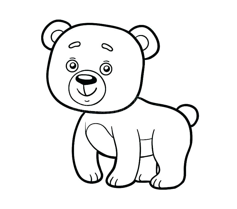 800x704 Black Bear Coloring Pages Coloring Pages Of Black Bears Big Bear