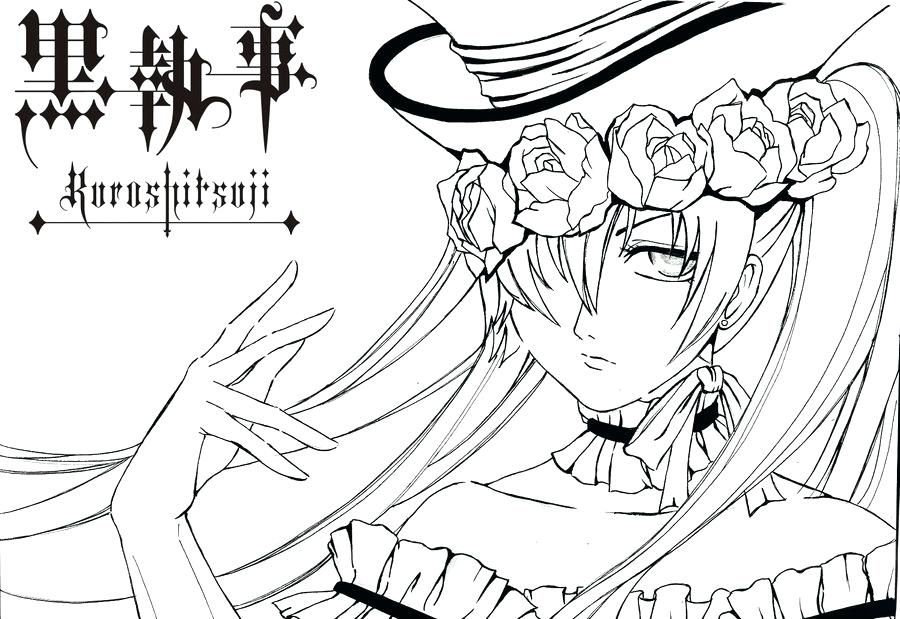 900x619 Black Butler Coloring Pages