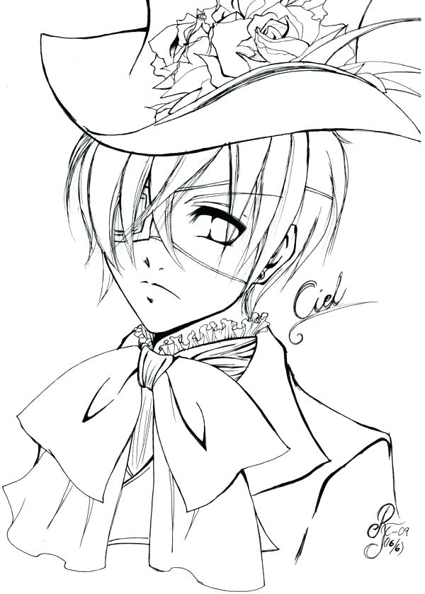 600x839 Black Butler Coloring Pages Best Black Butler Coloring Pages