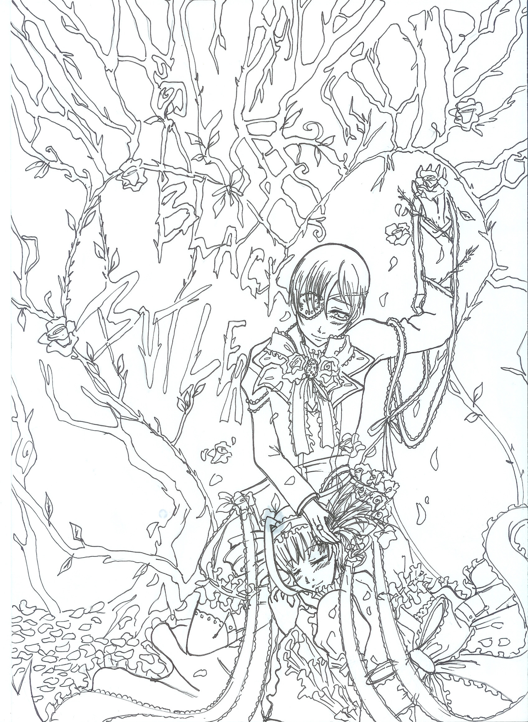 1696x2320 Black Butler Coloring Pages Gallery Of Sebastian